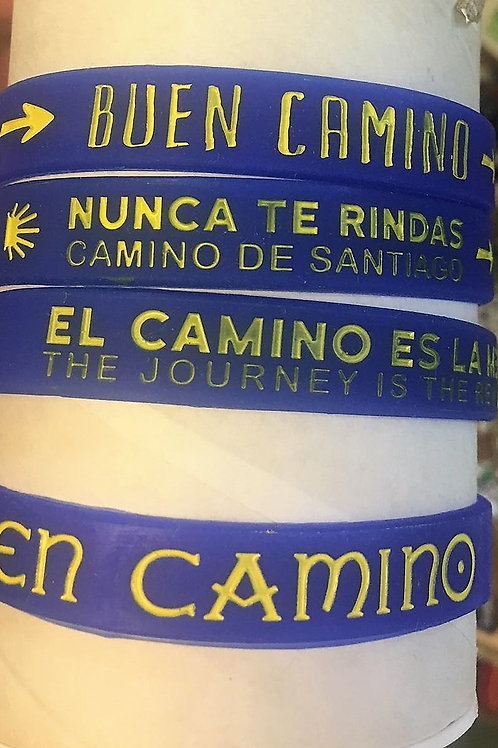 Pulsera caucho Camino Santiago