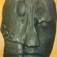 Alien mask sculpture