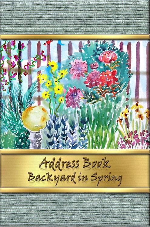 Address Book - Backyard in Spring