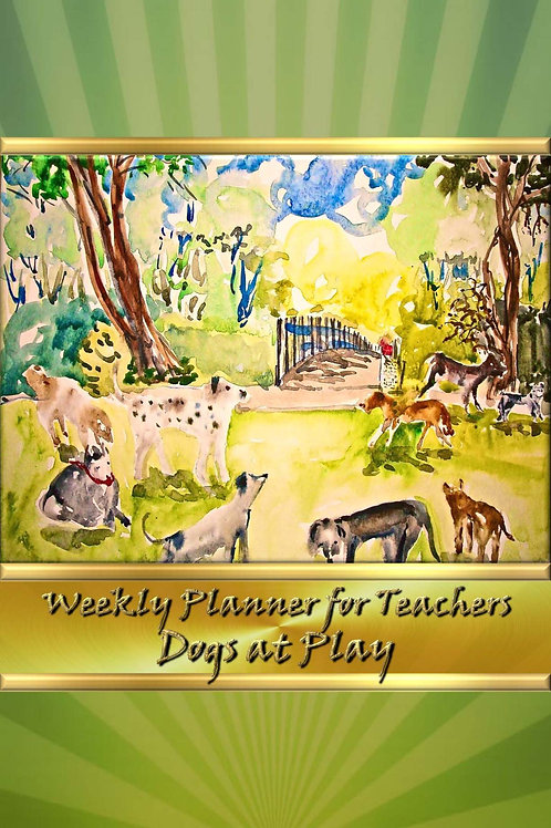 Weekly Planner for Teachers - Dogs at Play