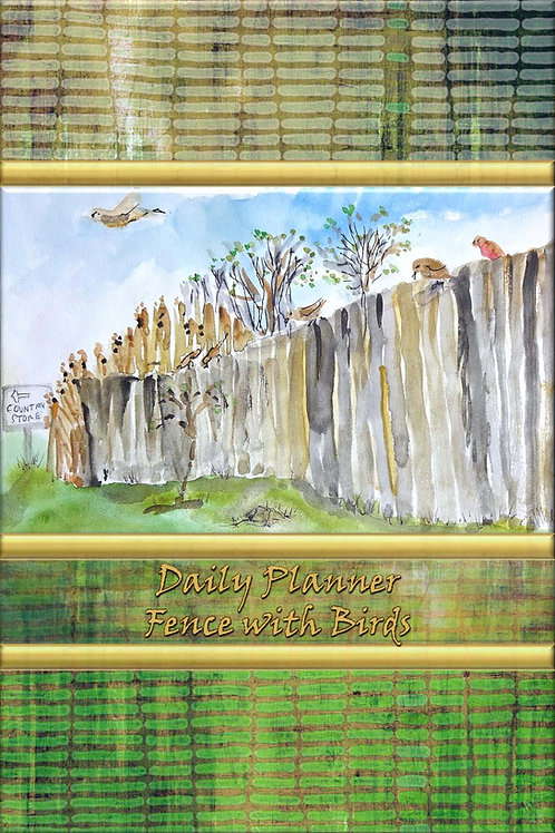 Daily Planner - Fence with Birds