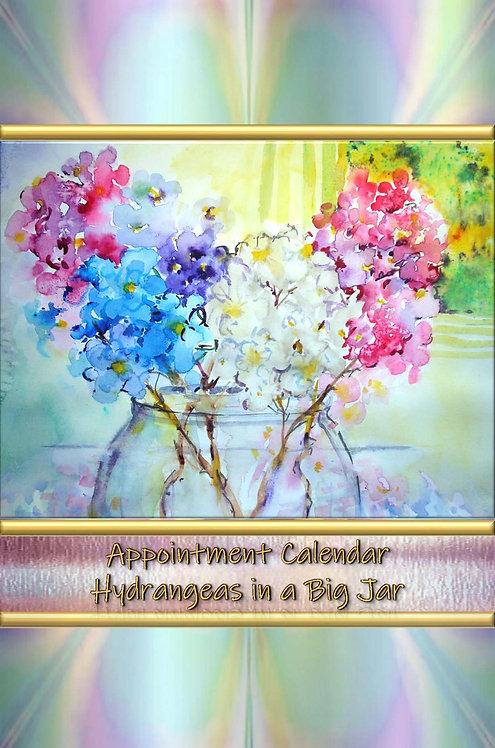 Appointment Calendar - Hydrangeas in a Big Jar