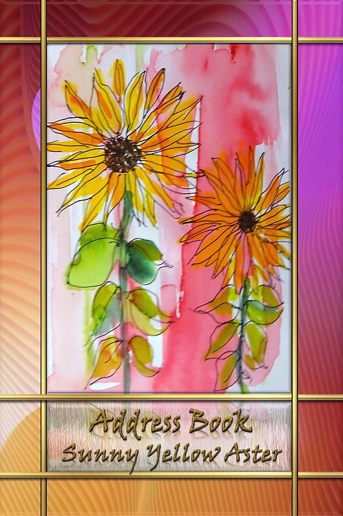 Address Book - Sunny Yellow Aster