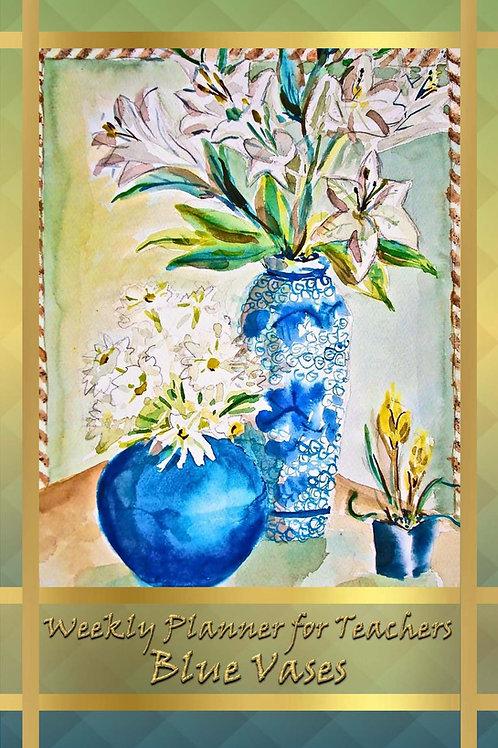 Weekly Planner for Teachers - Blue Vases
