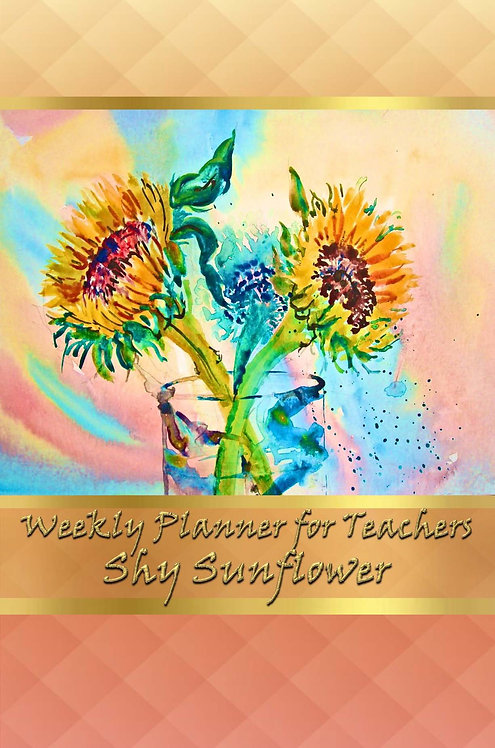 Weekly Planner for Teachers - Shy Sunflower