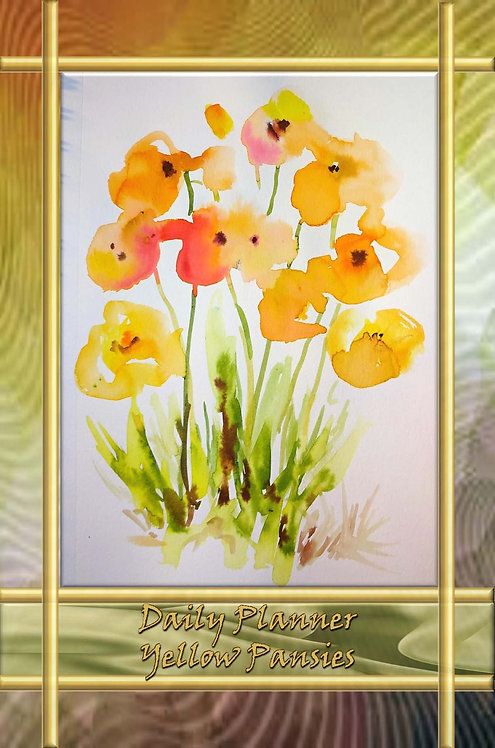 Daily Planner - Yellow Pansies