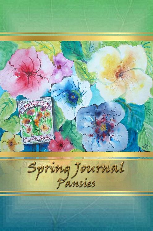 Spring Journal - Pansies
