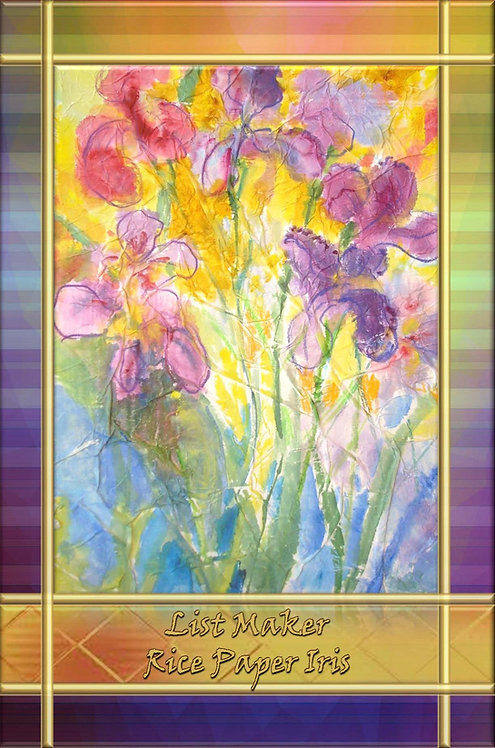 List Maker - Rice Paper Iris