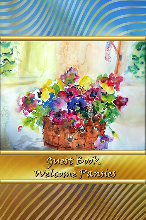 Guest Book - Welcome Pansies