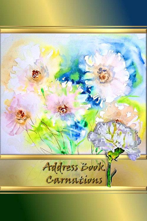Address Book - Carnations