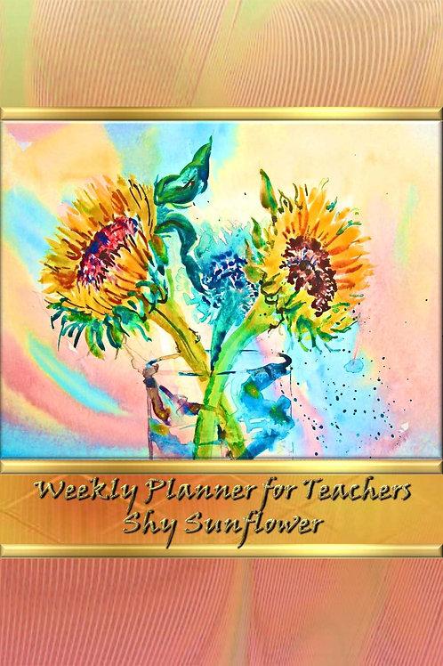 Weekly Planner for Teachers - Shy Sunflower
