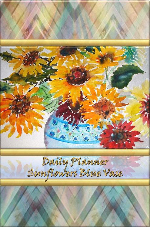 Daily Planner - Sunflower Blue Vase