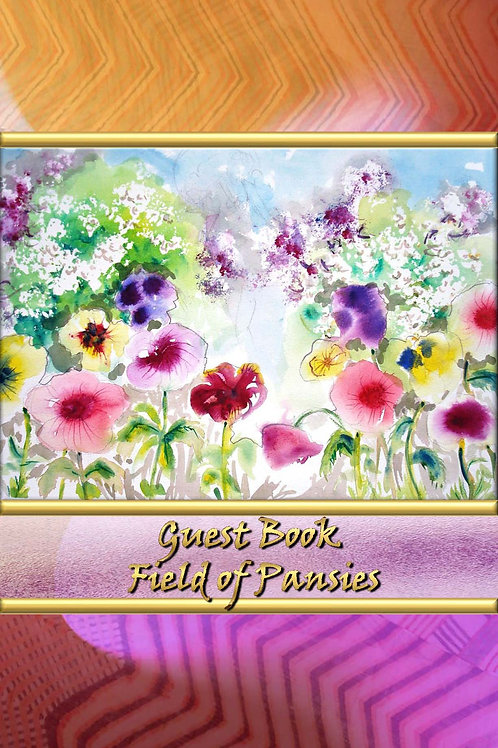 Guest Book - Field of Pansies