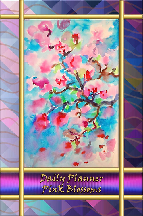 Daily Planner - Pink Blossoms