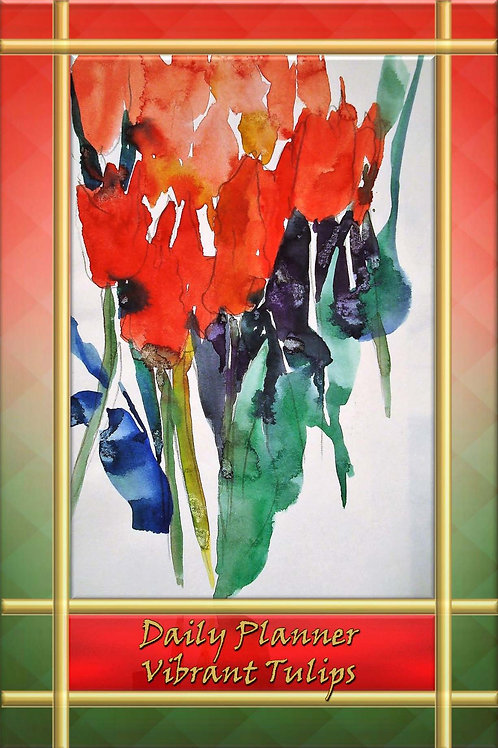 Daily Planner - Vibrant Tulips