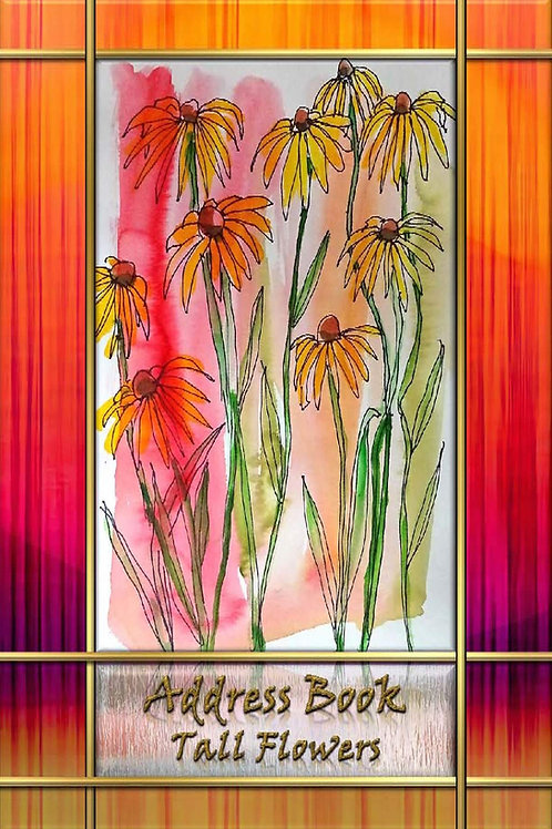 Address Book - Tall Flowers