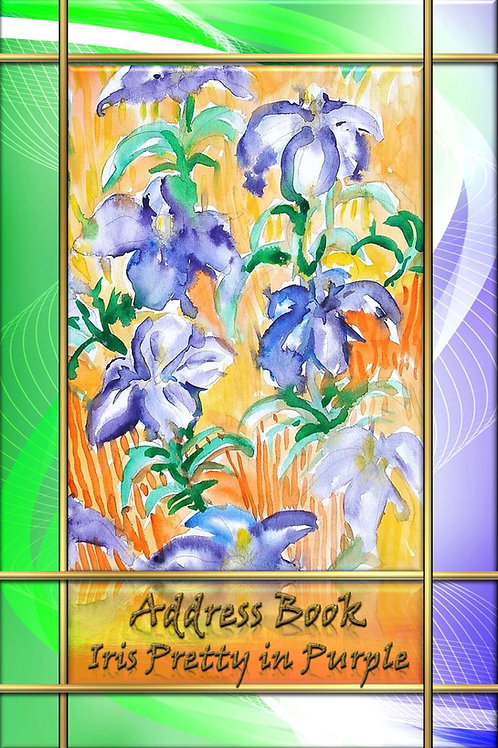 Address Book - Iris Pretty in Purple