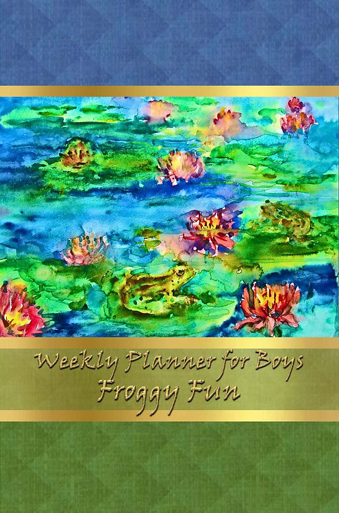 Weekly Planner for Boys - Froggy Fun