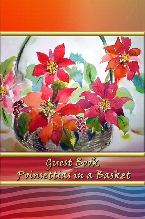 Guest Book - Poinsettias in a Basket