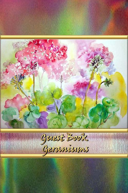 Guest Book - Geraniums