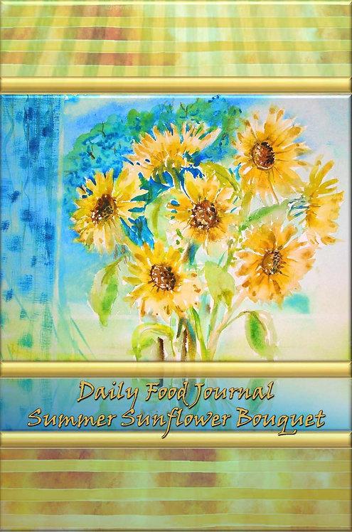 Daily Food Journal - Summer Sunflower Bouquet