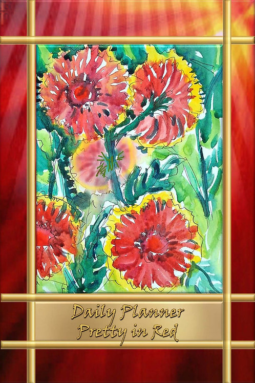 Daily Planner - Pretty in Red