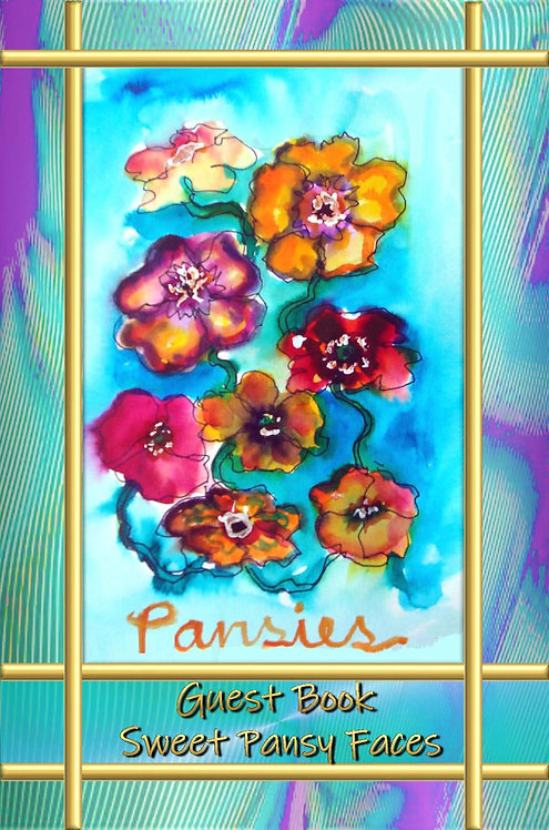 Guest Book - Sweet Pansy Faces