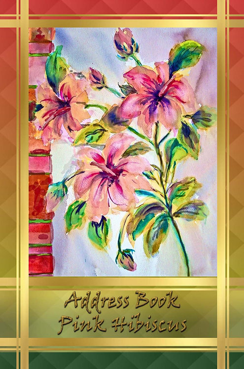 Address Book - Pink Hibiscus