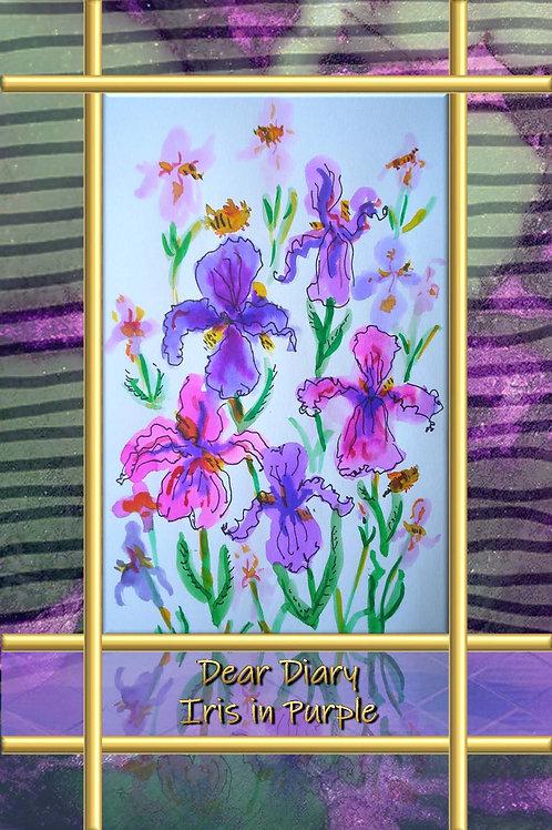 Dear Diary - Iris in Purple