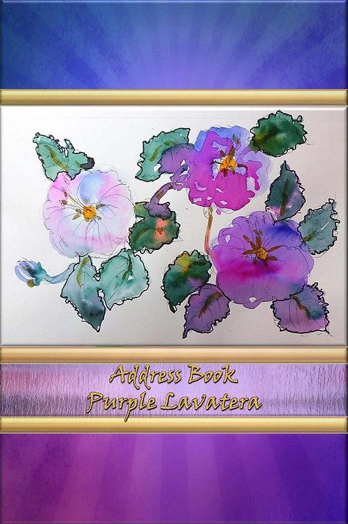 Address Book - Purple Lavatera