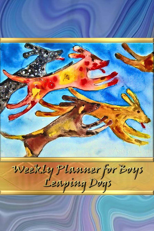 Weekly Planner for Boys - Leaping Dogs
