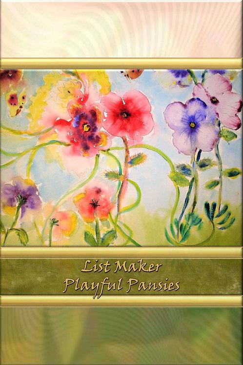 List Maker - Playful Pansies