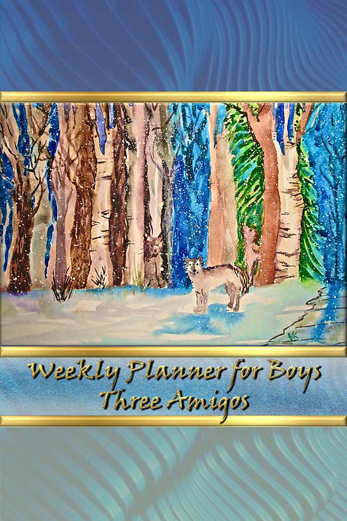 Weekly Planner for Boys - Three Amigos
