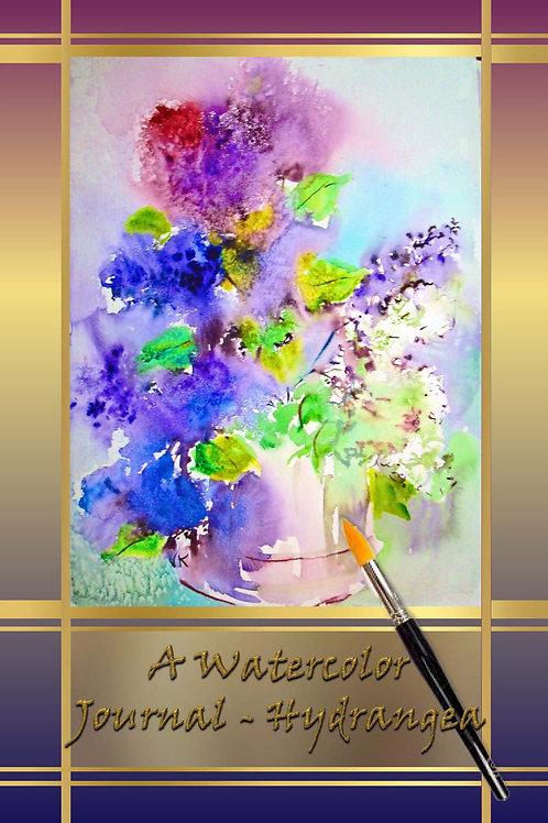 A Watercolor Journal - Hydrangea