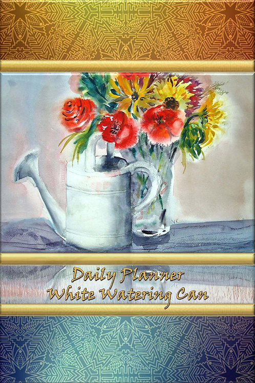 Daily Planner - White Watering Can