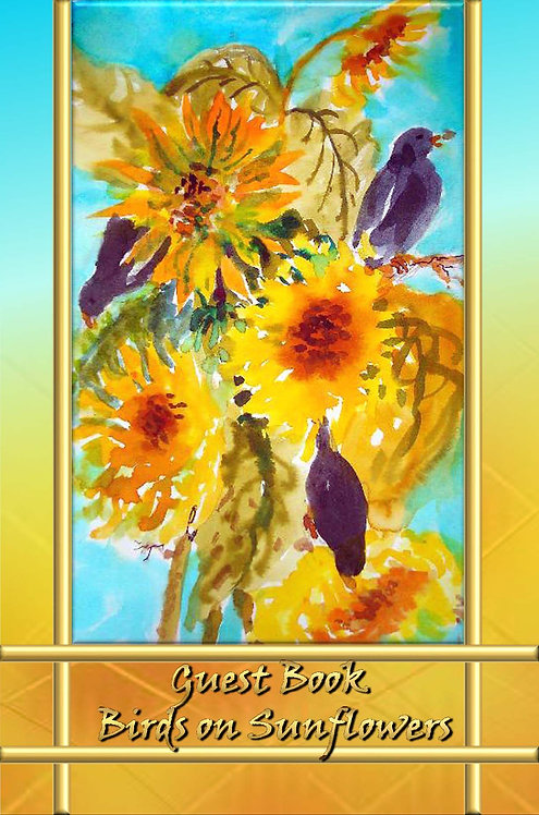 Guest Book - Birds on Sunflowers
