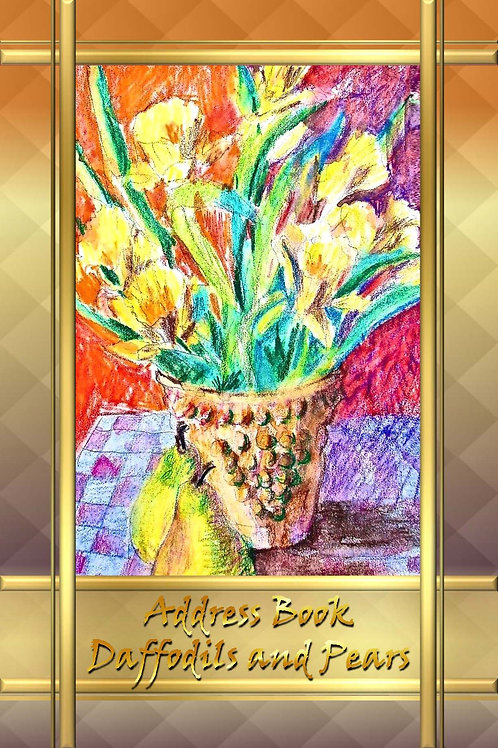 Address Book -Daffodils and Pears