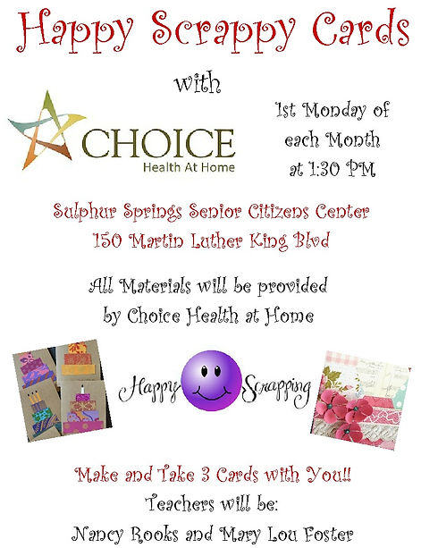Happy Scrappy Cards by Choice Health At