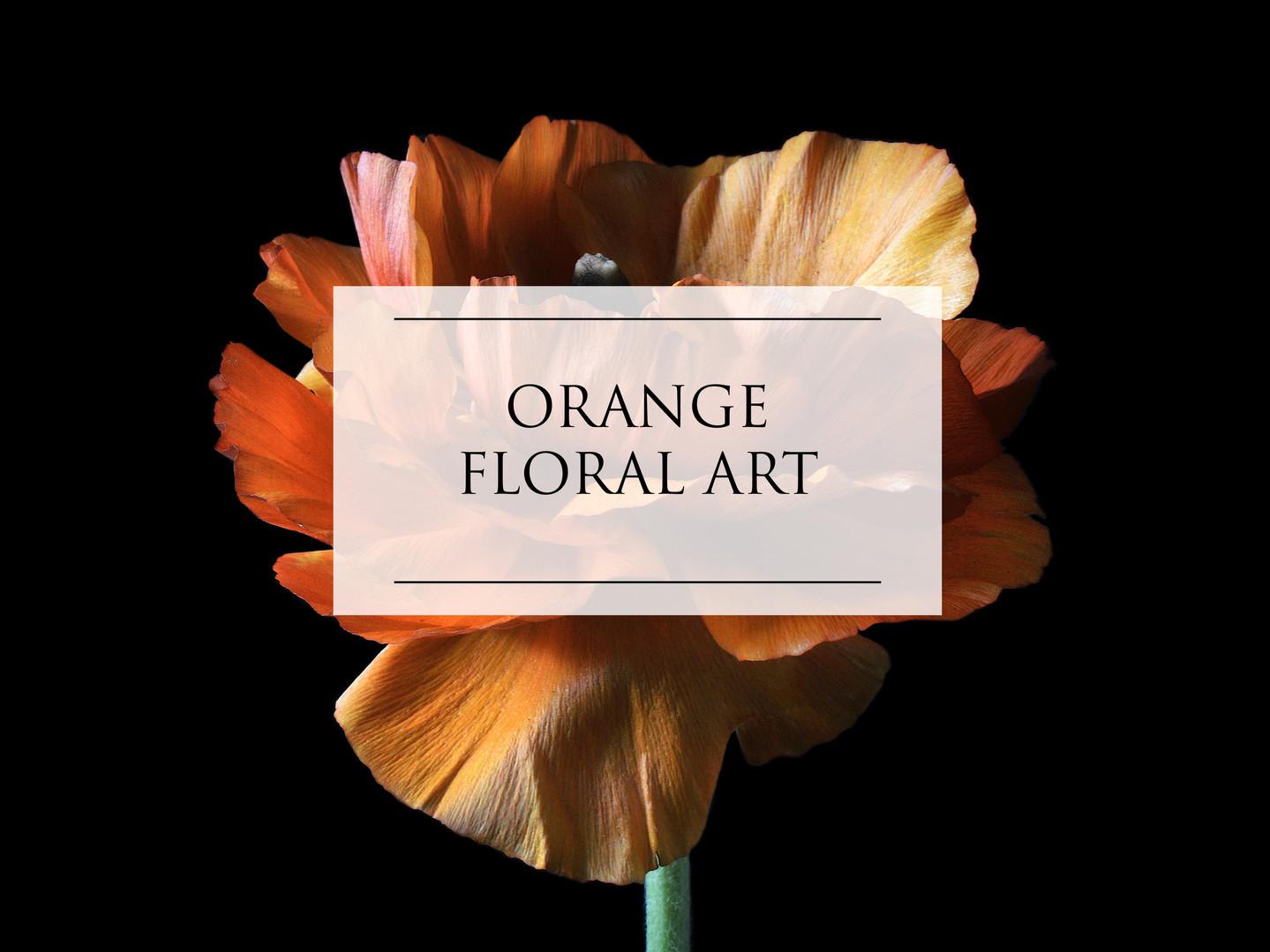 ORANGE FLORAL ART