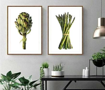 Asparagus And Artichoke ~ Printable Digital Download therandomimage.com