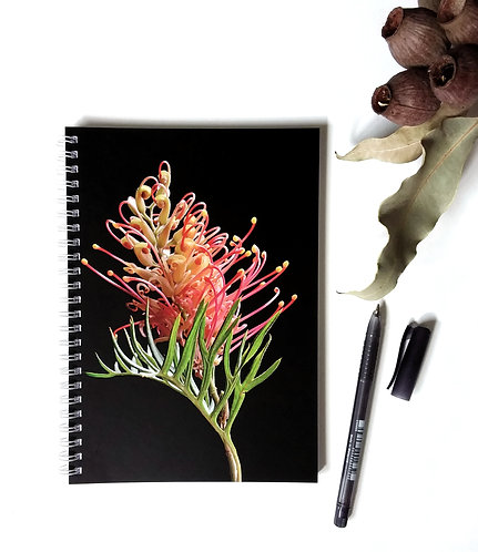Blank Paged Notebook ~ Australian Floral Stationery