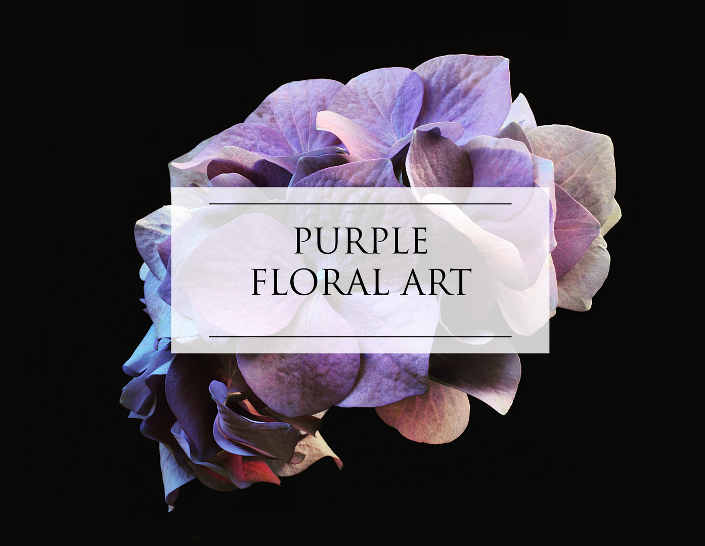 PURPLE FLORAL ART