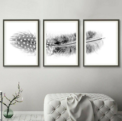 Feather Triptych ~ Digital Download therandomimage.com