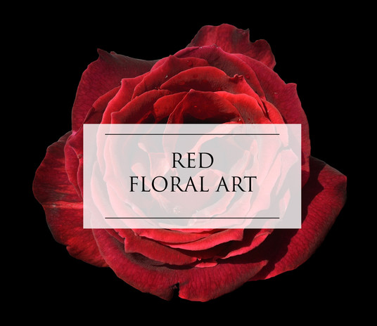 RED FLORAL ART