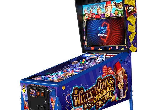 Buy Willy Wonka and the Chocolate Factory Limited Edition pinball machine by Jersey Jack Online at Orange County Pinballs