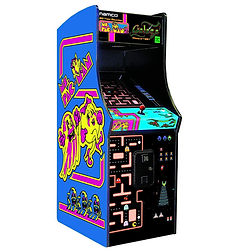 Ms Pac-Man Galaga Class of 1981 Arcade Size at Orange County Pinballs