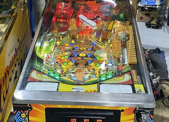 Buy Indiana Jones pinball machine by Williams Online at Orange County Pinballs