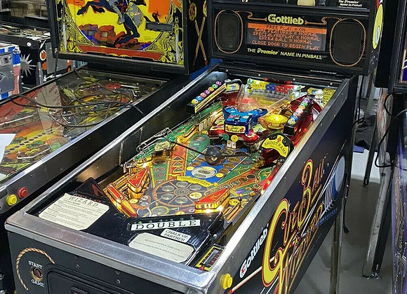 Buy Cue Ball Wizard Gottlieb 1992 Original Pinball Machine at Orange County Pinballs