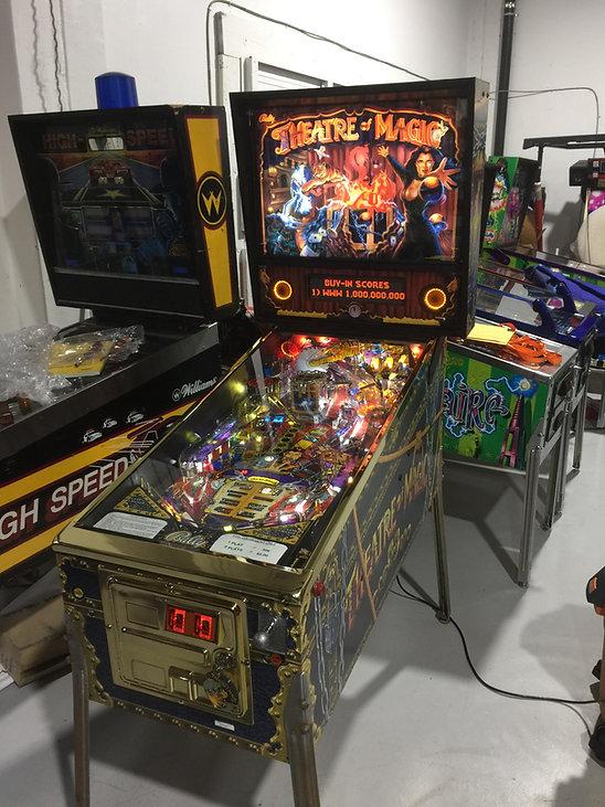 Brass plating pinball machine Theatre of Magic   Orange County Pinballs