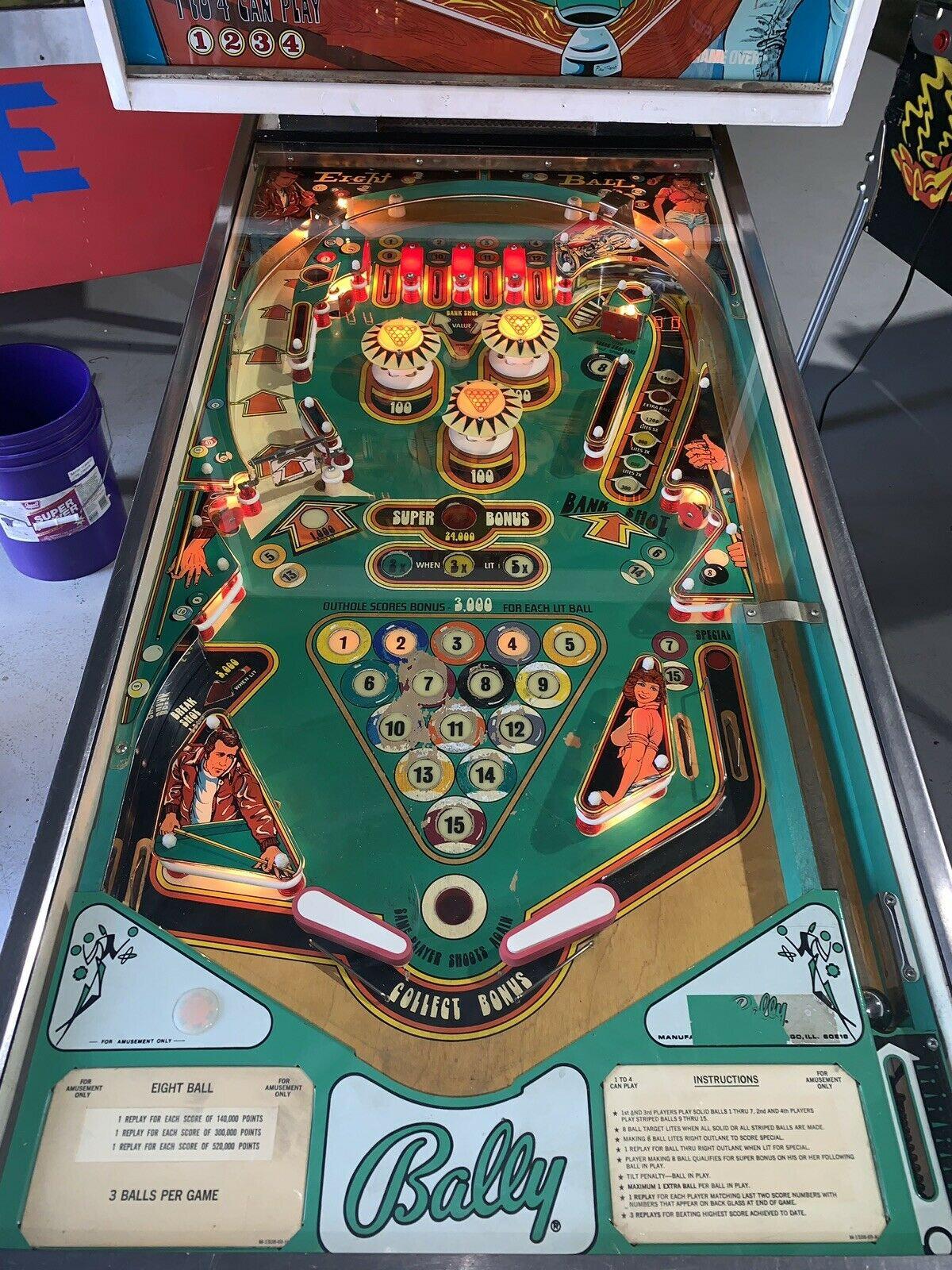 Eight Ball Pinball Machine By Bally | Orange County Pinballs